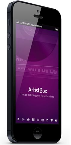 ArtistBox gathers all your favourite artists in one place and offers you all the information you need to love them even more. Iphone Ui, User Interface Design, Mobile Design, Mobile Ui, Interactive Design, Web Design Inspiration, Ui Ux, Your Favorite, App