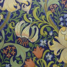 Made To Measure Curtains, Sanderson Fabrics & Wallpaper, Harlequin Fabrics & Wallpaper, > Morris & Co Wallpaper Golden Lily WM8556/1