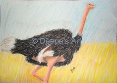How to oil pastel an ostrich:  https://www.youtube.com/watch?v=vGqWITS3Fjw