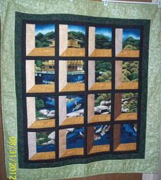 Attic Window using a panel. Great idea to liven up a panel.