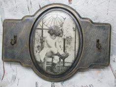 Купить Пано- ключница Винтажное - темно-серый, ключница, панно, деревянные заготовки, дерево