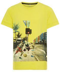 #Name #It #Organic #Yellow #Basketball #Print #Shirt #Kids #Boys #Fashion #Summer #2019 #Jongens #kleding #Geel Yellow Shirts, Boy Fashion, Mens Tops, T Shirt, Kids Boys, Basketball, Organic, Inspired, Summer