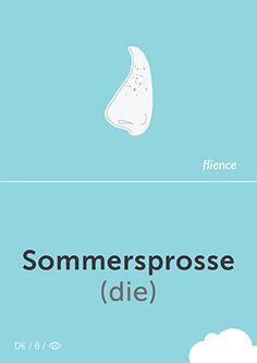 Sommersprosse #CardFly #flience #human #german #education #flashcard #language