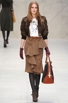 love the mix, love everything about it- Burberry Prorsum Fall 2012