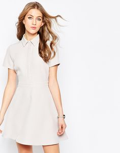 988002f2ab ASOS Structured Mini Shirt Dress at asos.com
