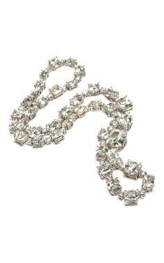 Utterly, utterly classic//Ara Vartanian White Diamond Necklace