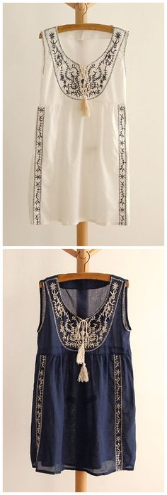 Embroidered Tank...love love love...