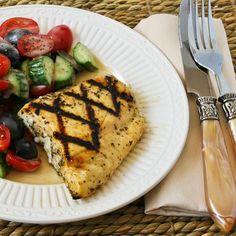Kalyn's Kitchen®: Recipe for Grilled Fish with Garlic, Basil, and Lemon (Halibut, Tilapia, or Mahi Mahi)