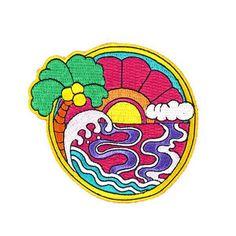 Psychedelic Sunset Patch by Wakana Yamazaki  Valley Cruise Press www.valleycruisepress.com