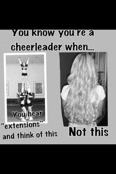 You know you're a cheerleader when...