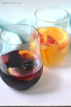 Red and White Sangria: Easy Summer Entertaining...we're only doing white, but good recipe without strawberries