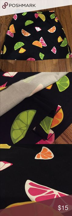 Briggs Fruit Slice Skort This is a multicolored fruit slice skort! It is Mini length and is in brand new condition. Briggs New York Skirts Mini