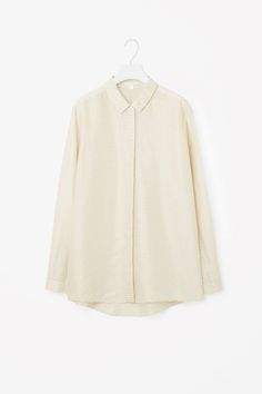 COS | Silk shirt with square pattern
