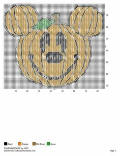 PUMPKIN MICKEY by JODY -- WALL HANGING