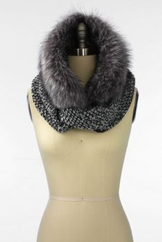 Women's Fur & Knit Infinity Scarf