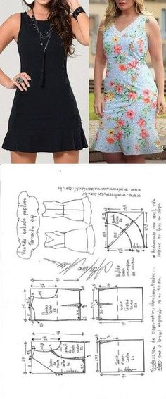 Ideas For Sewing Skirts Patterns Simple Fashion Sewing, Diy Fashion, Ideias Fashion, Skirt Patterns Sewing, Clothing Patterns, Costura Fashion, Sewing Shirts, Make Your Own Clothes, Schneider