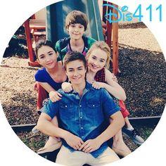 Nice Photo Of Rowan Blanchard, Sabrina Carpenter, Peyton Meyer And Corey Fogelmanis April 21, 2014