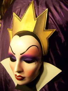 Evil Queen Mask, Snow White, Villains, Nice, HandMade/ Painted- Disney inspired $45.00 -Available at PiratesQuarters on Etsy.com