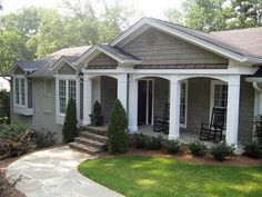 images of ranch house exteriors | Houses Beautiful Ideas For Front Porch Ranch Style Home Decoration ...