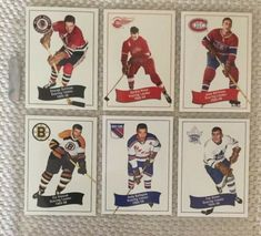 c62b52441 Parkhurst NHL 1955-56 Missing Link Reprint Cards Scoring Leaders Original  Six