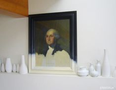 ...and After!    Found for $25 at a thrift store, this classic image has appeared in many homes in different sizes over the years, but never quite like this. After his modern makeover done with acrylic paints, I have to say George has never looked better!  Check out Tyler's post: Plastolux | Thrifting with George    Images: Plastolux  San FranciscoJanel LabanSeptember 2, 2011 11:30AM  TAGS  Before & After, Projects