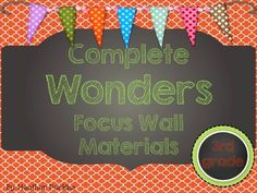 Wonders Reading Series Focus Wall Materials