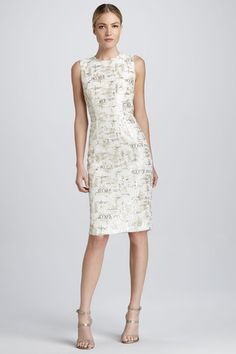 123270dec2 Kalinka Sleeveless Lace and Sequined Cocktail Dress - Neiman Marcus