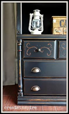 This is round II of project bookcase makeover this week. Many times when I get a piece of furniture I can see it in more than one color. Painted Bedroom Furniture, Furniture Makeover Diy, Bookcase, Black Painted Furniture, Black Furniture, Painted Furniture Colors, Black Chalk Paint Furniture, Paint Furniture, Bookcase Makeover