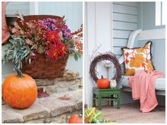 Nothing says fall in the South like a front porch adorned with pumpkins. Use these ideas to decorate your porch this season.