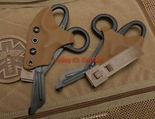 Black Trauma Shears+Coyote Kydex Holster TCCC Blow Out Kit tad bit of medic gear
