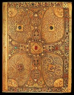 Carolingian Lindau Gospels late 9th century.  A look at Carolingian politics...  http://www.medievalists.net/2014/09/15/competition-tradition-carolingian-political-rituals-751-800/  #Carolingians