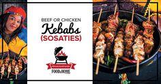 national braai day beef or chicken kebabs Kebabs, Beef, Chicken, Day, Meat, Kabob, Kabobs, Ox, Ground Beef