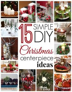 15 Simple #DIY Christmas Centerpiece Ideas! #christmas #decorating
