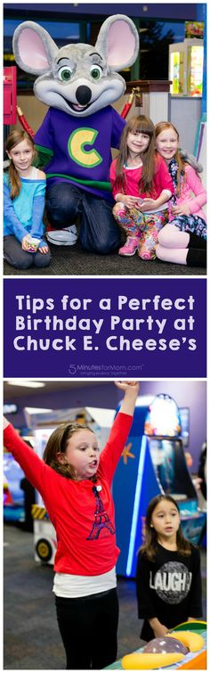 How to plan a perfect kids birthday party at Chuck E Cheese. Sponsored.