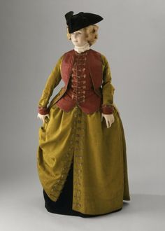 Woman's Riding Habit Italy, Venice, circa 1780 Costumes; ensembles Watered silk faille, watered plain weave silk, linen lining| LACMA Collections