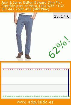 Jack & Jones Bolton Edward Slim Fit - Pantalón para hombre, talla W33 / L32 (ES 44), color Azul (Mid Blue) (Ropa). Baja 62%! Precio actual 23,17 €, el precio anterior fue de 61,75 €. https://www.adquisitio.es/jack-jones/bolton-edward-slim-fit-1