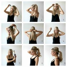 Ponytails styles Puffy Ponytail, Full Ponytail, Perfect Ponytail, Ponytail Bump, Hair Volume, Ponytail Styles, Ponytail Hairstyles Tutorial, Quick Hairstyles, Hair And Beauty