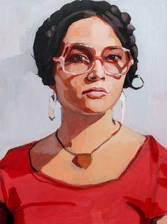 """Saatchi Online Artist: Erin Fitzpatrick; Oil, 2011, Painting """"Lane"""""""