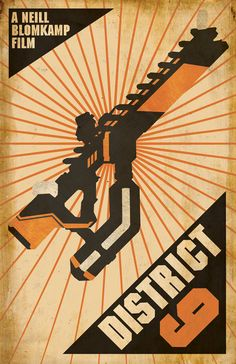 District Science Fiction Cult Movie Poster - Vintage Inspired Propaganda Art Print/ The Modern Stylographer- Fine Design & Illustration for Fantasy, Futurism, & Fun Fantasy Anime, Fantasy Movies, Science Fiction, Pop Posters, Retro Posters, Cinema Posters, Propaganda Art, Cult Movies, Fiction Movies
