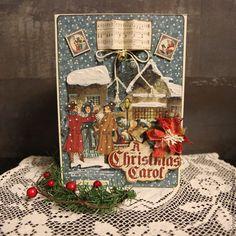 Купить Открытка Рождественская Песня - разноцветный, открытка, Открытка ручной работы, рождество, Новый Год