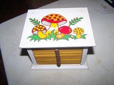 Merry Mushroom Coaster Set Vintage Sears Very Rare Mushroom Decor, Mushroom House, 1970s Decor, Vintage Stuff, Coaster Set, Stuffed Mushrooms, Sweet Home, Merry, Craft Ideas