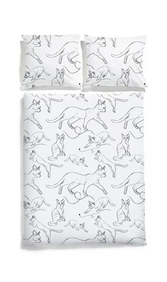 Cats bedding White pocket #scandinavian