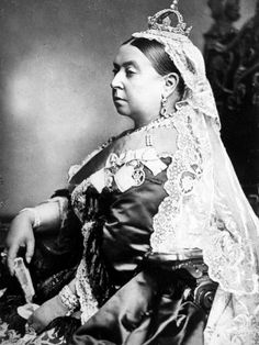 Queen Victoria (1837-1901)  Wearing the small Imperial crown to mark her 66th Birthday  (1885)