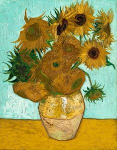 Vase mit Sonnenblumen  by Vincent Van Gogh Art Van, Van Gogh Art, Van Gogh Pinturas, Vincent Van Gogh, Claude Monet, Flores Van Gogh, Vase With Twelve Sunflowers, Van Gogh Flowers, Van Gogh Still Life