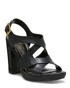 Fabia Leather Sandal - Lauren Pumps - RalphLauren.com