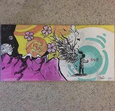 Hana Acrylic and Ink 24x12
