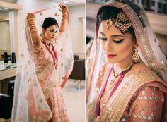 Hair and Makeup by Vandana Mishra for Real Bride Ankita Singh of WeddingSutra.
