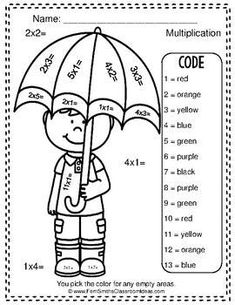 Color By Numbers Basic Facts Freebie Color By Numbers, Multiplication And Division, Addition And Subtraction, Free Coloring, Worksheets, Have Fun, Coding, Classroom, Learning