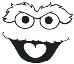 Street Oscar The Grouch Head Clipart 450 Sketch Coloring Page Sesame Street Crafts, Sesame Street Costumes, Sesame Street Party, Eeyore, Sesame Street Birthday Cakes, Face Stencils, Cookie Monster Party, Face Template, Elmo Party
