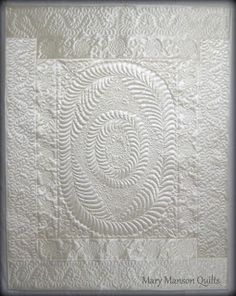 Mary Manson Quilts: Diane's Quilt from her Mother's Wedding Dress
